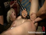 Golden-haired Cutie Tied-up and Butt Fisted in Public!!!
