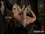 Category 5 Suspension, Made to Suck Dick and CumAll Restraint bondage on Screen, Outstanding live rope thraldom!