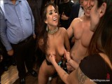 Delicious adult baby flirt receives drilled in public!