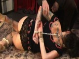 Tattooed Krissy spanked