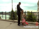 Breasty Golden-haired Isabella Clark Public Double penetration – Part 1