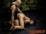 Intense Rope Slavery Sex & Deepthroat BJ with Mena Li