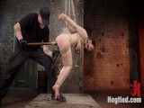 Petite Harness bondage Slut Gets her Holes Destroyed in Grueling Bondage